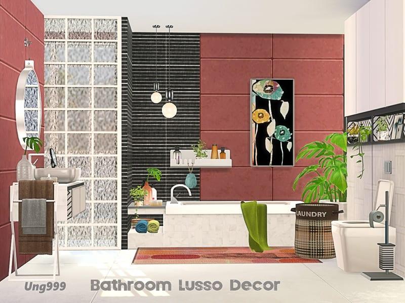 Bathroom Lusso Decor Mod Sims 4 Mod Mod for Sims 4