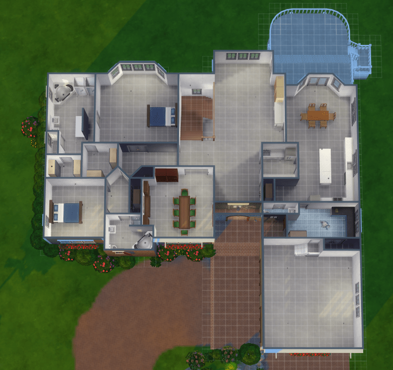 Ranch House With Walk Out Basement Mod, How To Make A Walkout Basement Sims 3